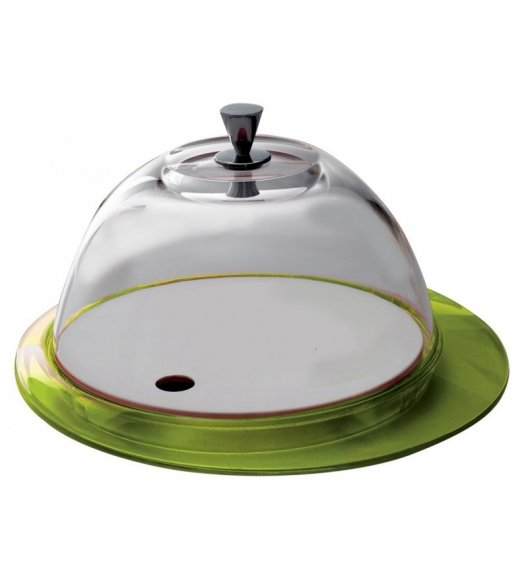 BUGATTI GLAMOUR Patera na ciasto 30 cm ze szklaną pokrywą ZIELONY