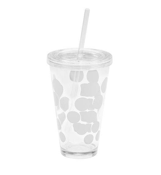 ZAK! DESIGNS Kubek na napoje z pokrywką i słomką, 570 ml, biały /Btrzy