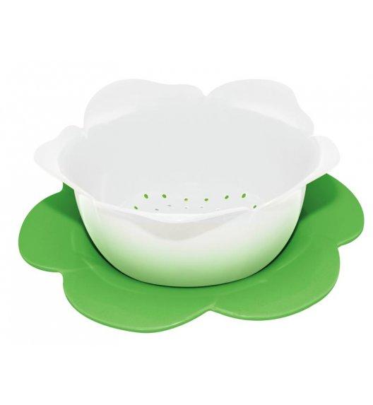 ZAK! DESIGNS Durszlak z podstawką, biało-zielony, 16,5 cm /Btrzy
