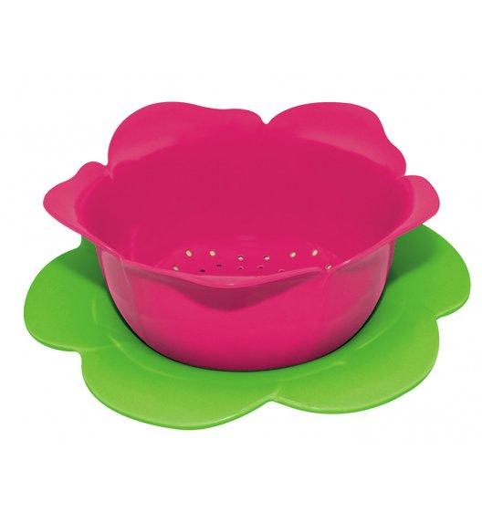 ZAK! DESIGNS Durszlak z podstawką, różowo-zielony, 23 cm /Btrzy