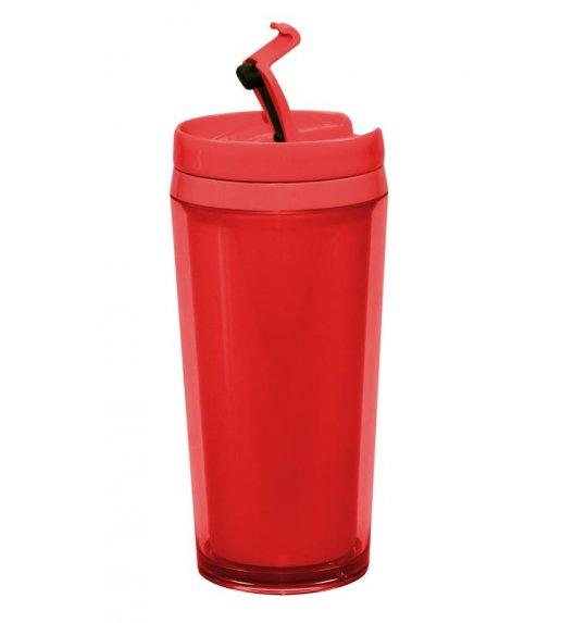 ZAK! DESIGNS Kubek termiczny z podwójnymi ściankami, czerwony, 400 ml /Btrzy