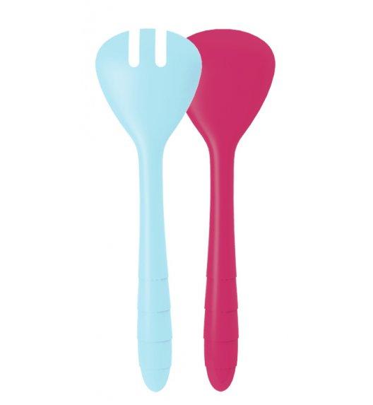 ZAK! DESIGNS Zestaw łyżek do sałaty, niebiesko różowe /Btrzy