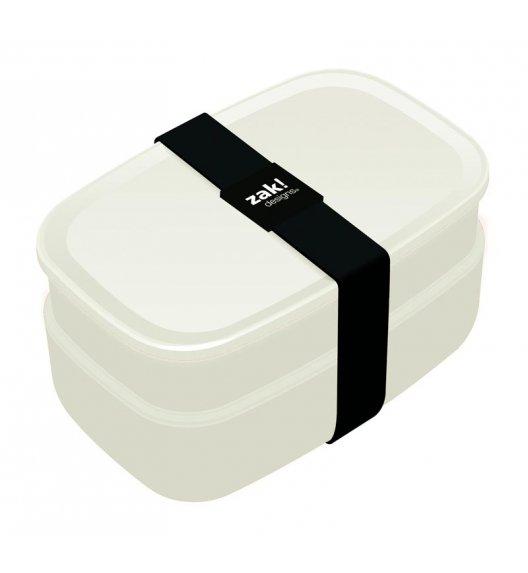 ZAK! DESIGNS Zestaw 2 pojemników śniadaniowych + sztućce, biały /Btrzy