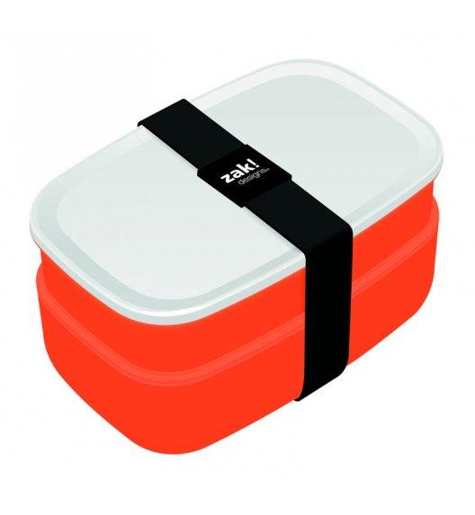 ZAK! DESIGNS Zestaw 2 pojemników śniadaniowych + sztućce, pomarańczowy /Btrzy