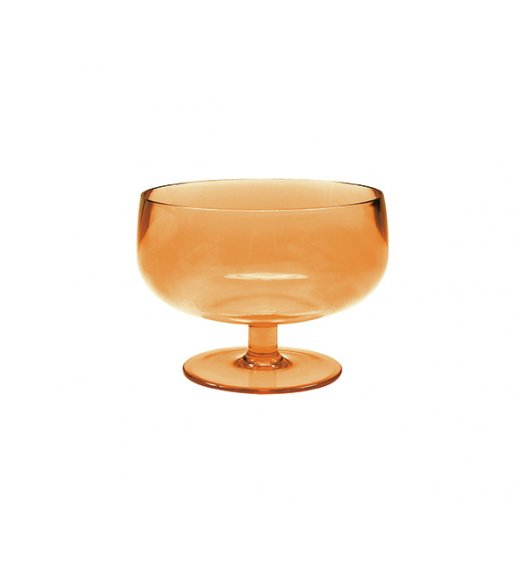 ZAK! DESIGNS Puchar do serwowania lodów i deserów, imitujący grube szkło, pomarańczowy /Btrzy