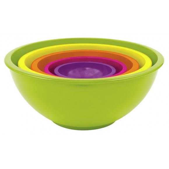 ZAK! DESIGNS Zestaw 5-ciu kolorowych misek / Btrzy