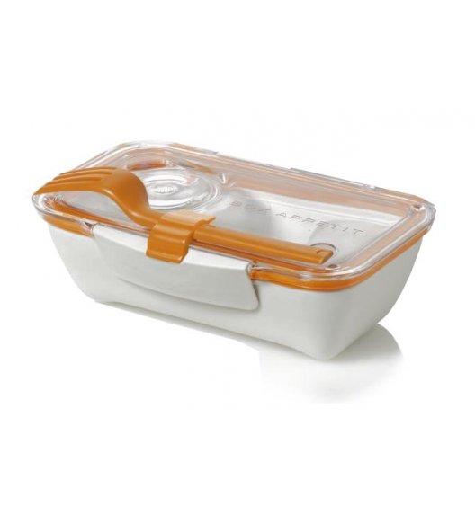 BLACK+BLUM BENTO BOX Pojemnik na lunch, biało/pomarańczowy. Btrzy