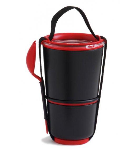 BLACK+BLUM LUNCH POT Pojemnik na lunch, czarno/czerwony. Btrzy