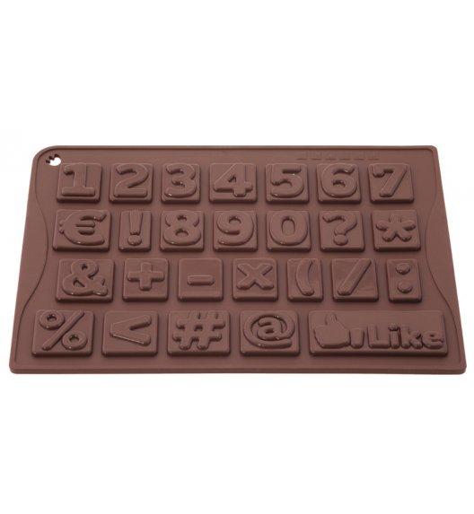 PAVONIDEA forma na czekoladowe pralinki, 26 wzorów, cyferki /Btrzy