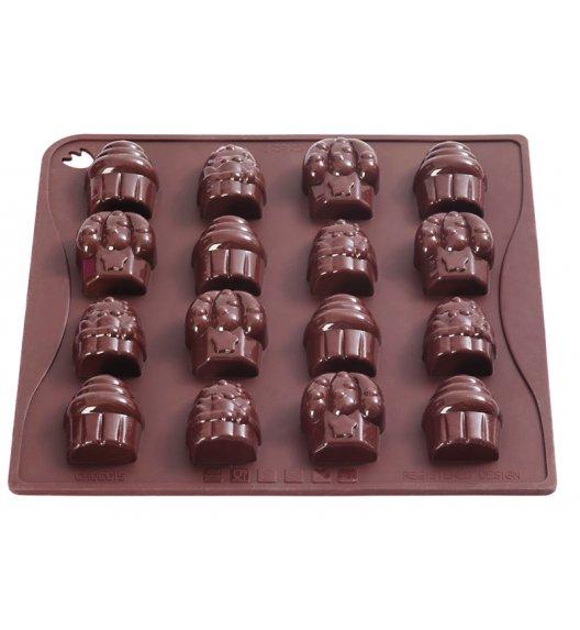 PAVONIDEA CUPCAKES forma na czekoladowe pralinki, 14 wzorów /Btrzy