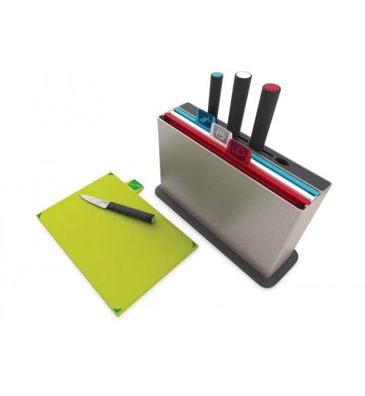 JOSEPH JOSEPH INDEX Zestaw 4 desek + 4 noży w bloku / Btrzy