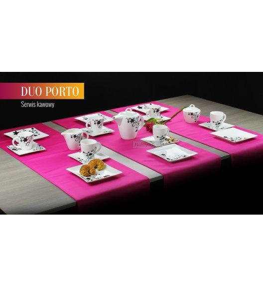 WYPRZEDAŻ! Serwis kawowy 4 os/15 el Duo PORTO wyroby porcelanowe. PORT15