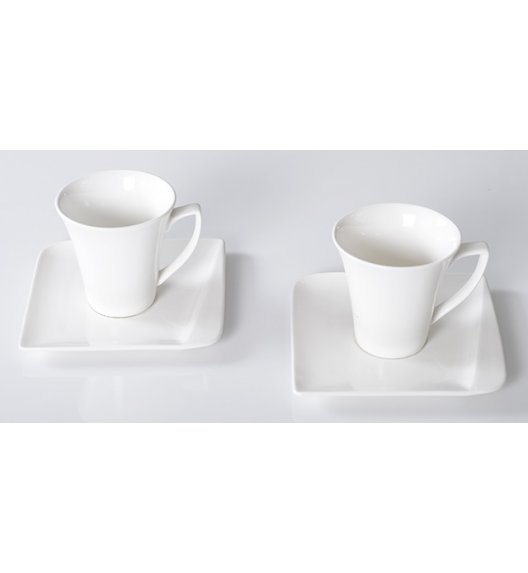 HOME DELUX QUATRE HD12052 Serwis Kawowy 4 elementy / 2 osoby / porcelana / DELHAN