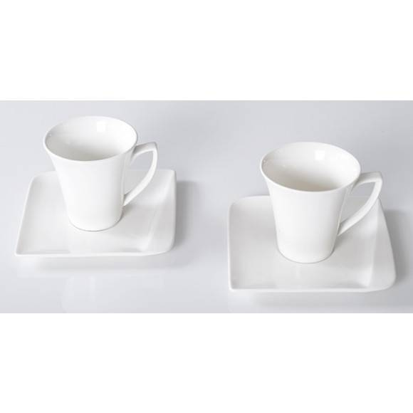 HOME DELUX QUATRE HD12052 Serwis Kawowy 4 elementy / 2 osoby / porcelana / DELHAN