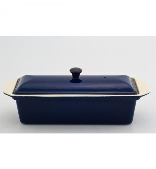 Wyprzedaż! Brytfanna żeliwna emaliowana prostokątna z pokrywką Chasseur Classic 32 cm, 1,2 l, kobaltowy granatowy 3832-09