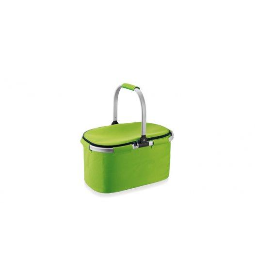 Koszyk termiczny składany Tescoma Coolbag 45x25x28 cm w kolorze zielonym. 892350.25 Zobacz film.