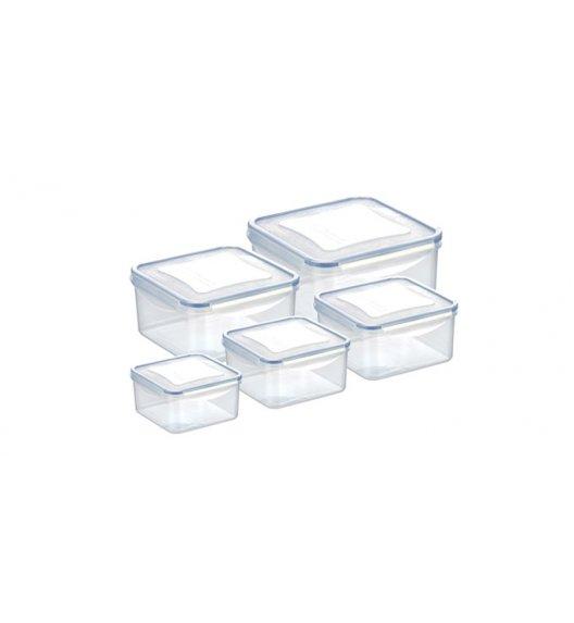 Komplet pojemników prostokątnych na żywność Tescoma Freshbox, 10 elementów. Zobacz film.