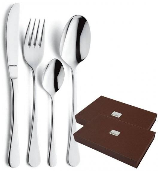 AMEFA REBECCA Sztućce UE Komplet 48 el w pudełku brązowym / 12 osób / połysk