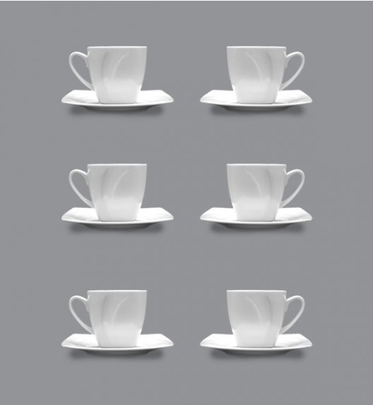 LUBIANA CELEBRATION Komplet 6 Filiżanek espresso 90 ml + spodki / 12 el / 6 os / porcelana