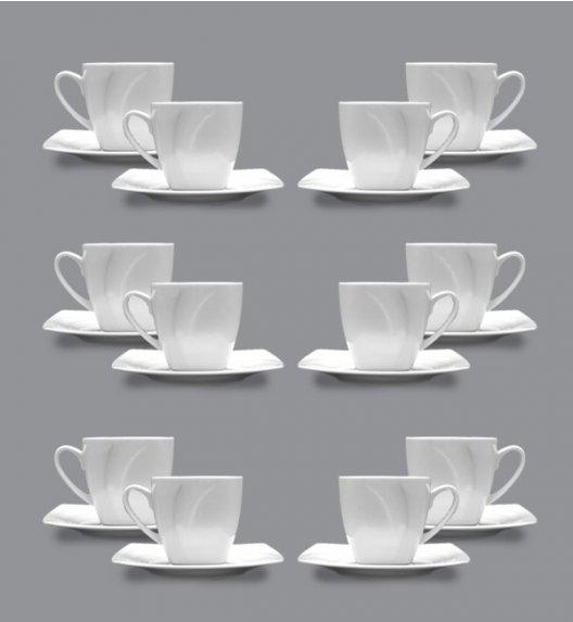 LUBIANA CELEBRATION Komplet 12 Filiżanek espresso 90 ml + spodki / 24 el / 12 os / porcelana