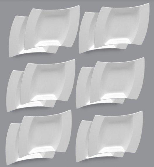LUBIANA WING Komplet Talerze głębokie 25 cm / 12 el / 12 os / porcelana