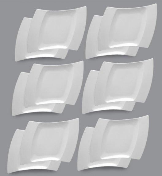 LUBIANA WING Komplet Talerze obiadowe 31 cm / 12 el / 12 os / porcelana