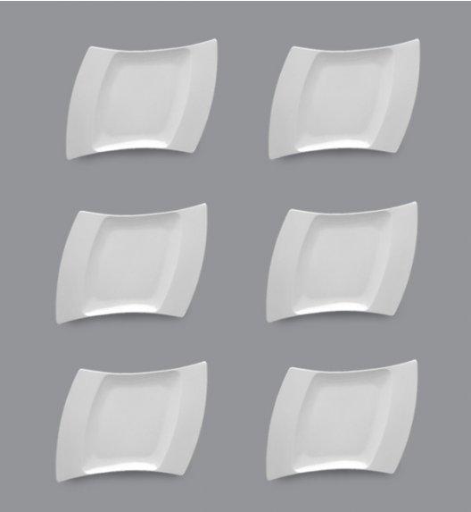 LUBIANA WING Komplet Talerze deserowe 23 cm / 6 el / 6 os / porcelana