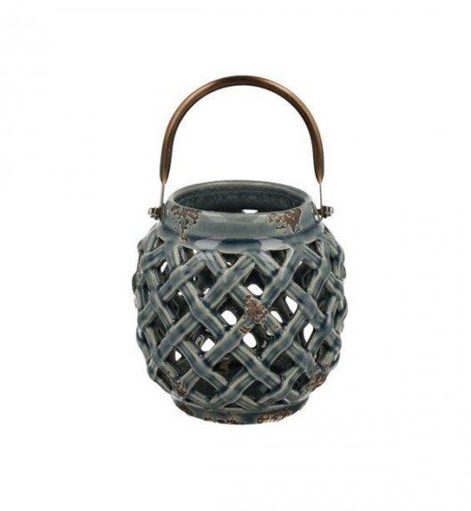DUO Lampion ceramiczny 10 cm z metalowym uchwytem. YSD104D