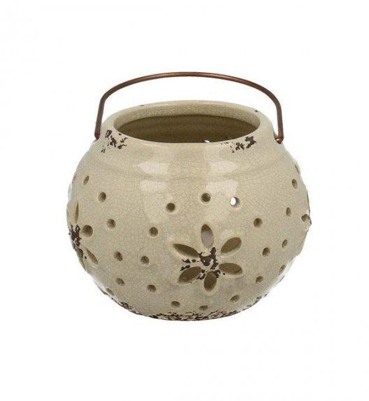 DUO Lampion ceramiczny 10 cm z metalowym uchwytem. YSD392B