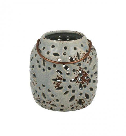 DUO Lampion ceramiczny 12 cm z metalowym uchwytem. YSD122D