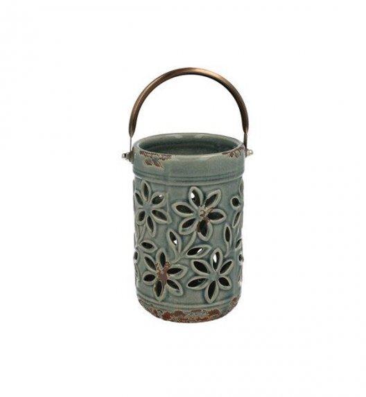 DUO Lampion ceramiczny 14 cm z metalowym uchwytem. YSD394B