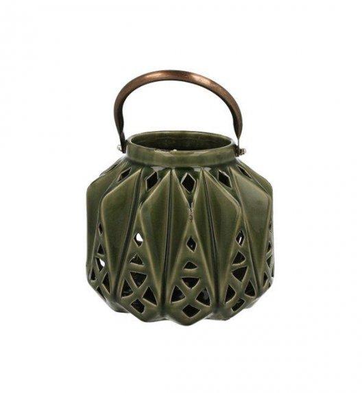 DUO Lampion ceramiczny 15,5 cm z metalowym uchwytem. YSD675