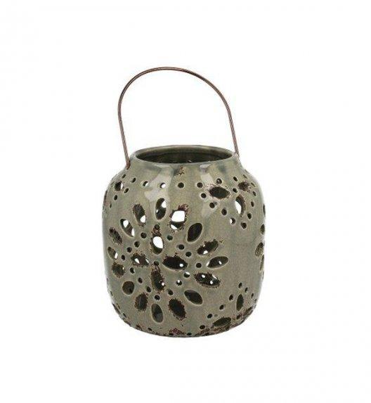 DUO Lampion ceramiczny 16,5 cm z metalowym uchwytem. YSD122C