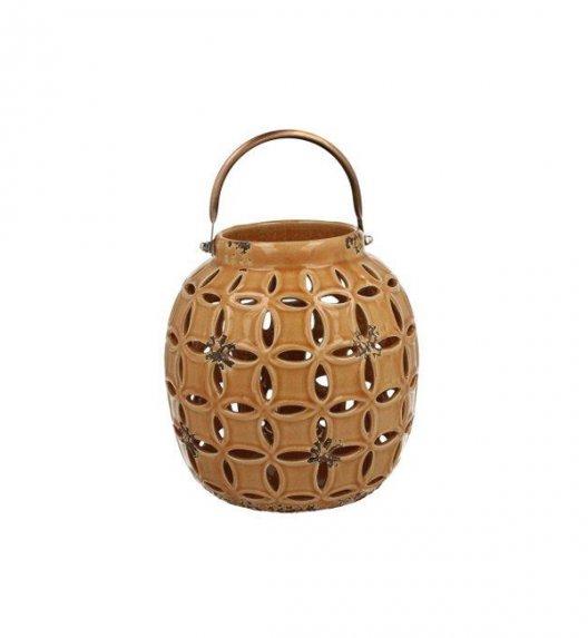 DUO Lampion ceramiczny 18 cm z metalowym uchwytem. YSD0374A