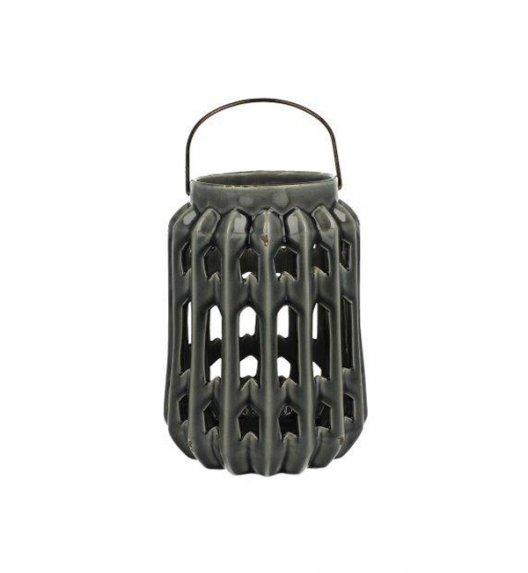 DUO Lampion ceramiczny 20 cm z metalowym uchwytem. YSD685A