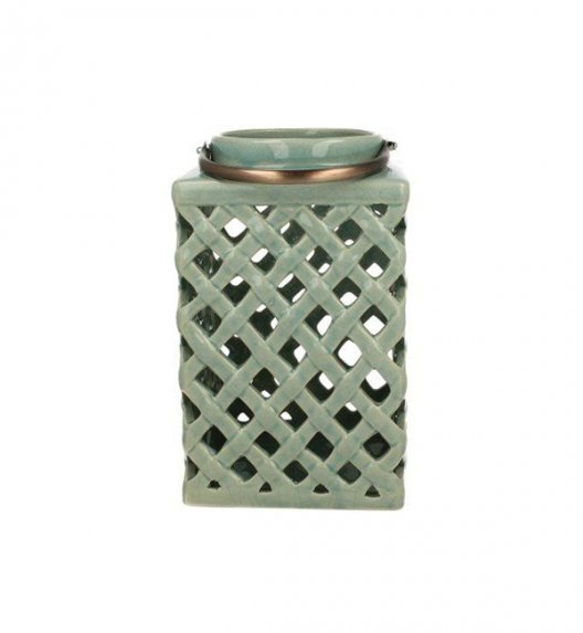DUO Lampion ceramiczny 26 cm z metalowym uchwytem. YSC074B