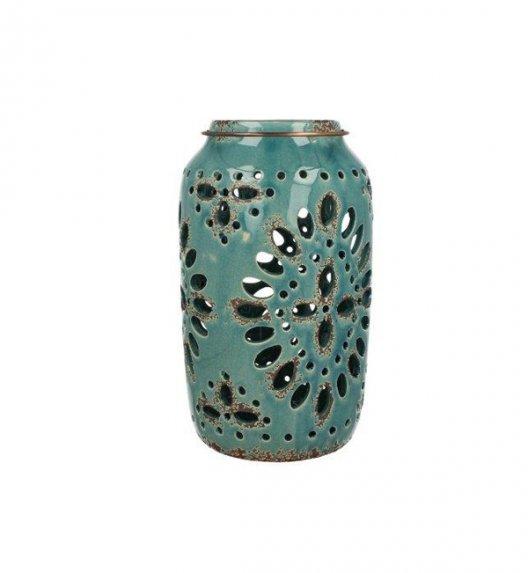 DUO Lampion ceramiczny 28,4 cm z metalowym uchwytem. YSD122A