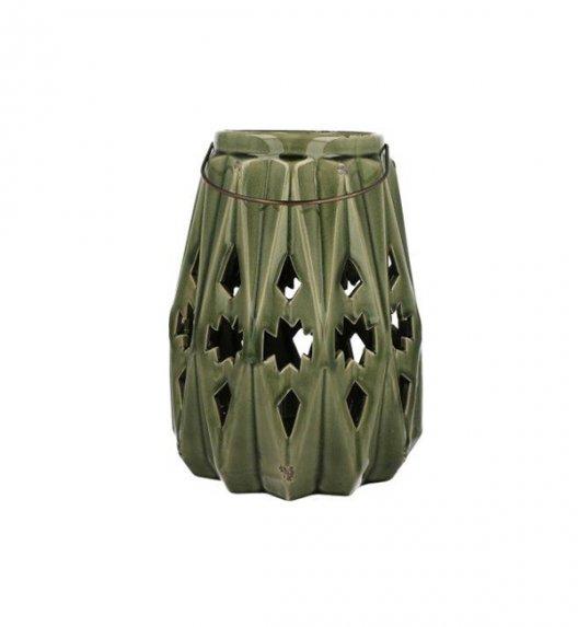 DUO Lampion ceramiczny 28,5cm z metalowym uchwytem. YSD670A