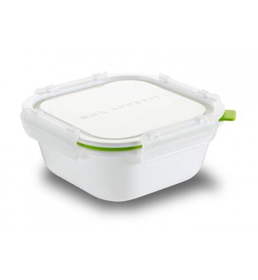 BLACK+BLUM Kwadratowy lunch box, duży, biało zielony. Btrzy