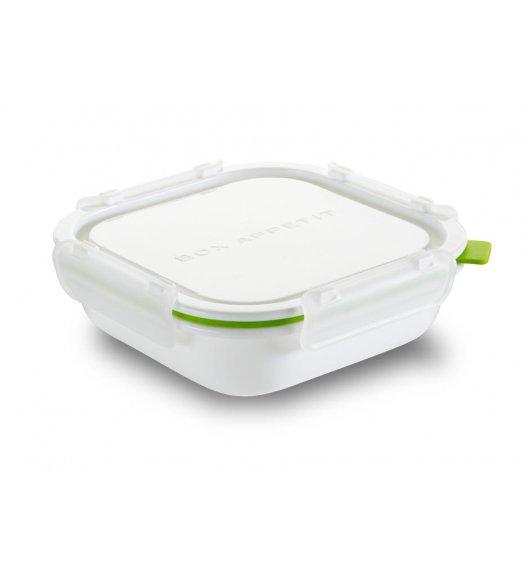 BLACK+BLUM Kwadratowy lunch box, mały, biało zielony. Btrzy