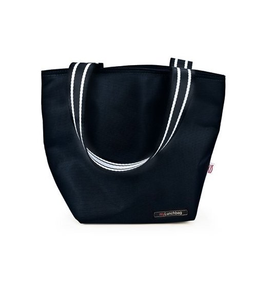 Iris - Lunchbag TOTE, czarny. Stylowa torba na lunch z folią termoizolacyjną / Btrzy