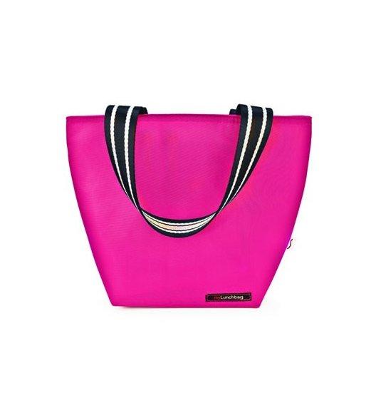 Iris - Lunchbag TOTE, różowy. Stylowa torba na lunch z folią termoizolacyjną / Btrzy