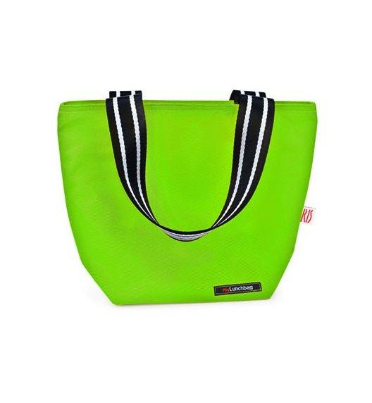 Iris - Lunchbag TOTE, zielony. Stylowa torba na lunch z folią termoizolacyjną / Btrzy