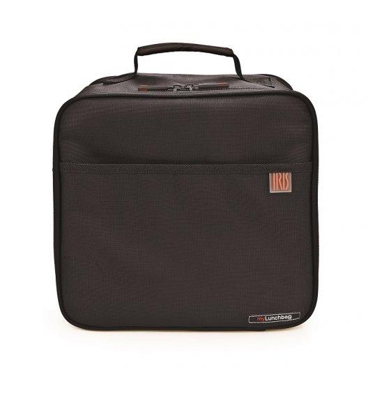 IRIS Maxi Lunch Box czarny. Torba z folią termoizolacyjną + 2 pojemniki / Btrzy
