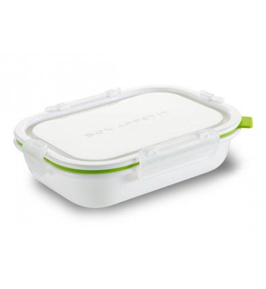 BLACK+BLUM Prostokątny lunch box, mały, biało zielony. Btrzy