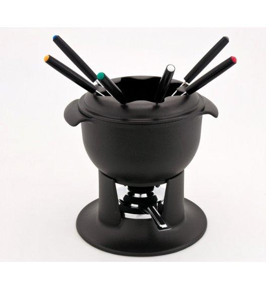 CHASSEUR TULIPE Zestaw fondue / 1,4 l / czarny / żeliwo, stal
