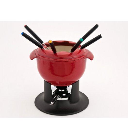 CHASSEUR TULIPE Zestaw fondue / 1,4 l / wiśnia / żeliwo, stal
