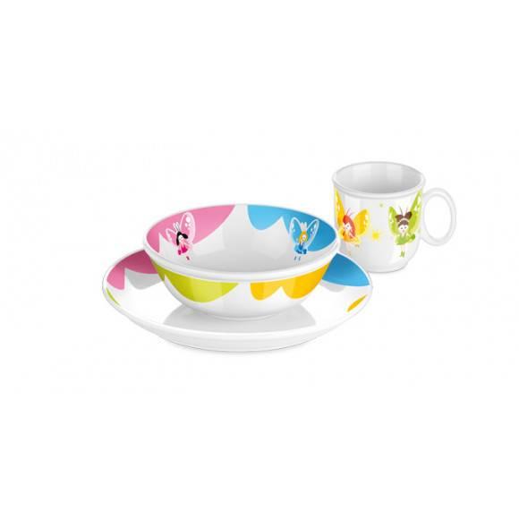 Komplet obiadowy dla dzieci Tescoma Bambini Rusałki + sztućce Odiso 7 elementów.