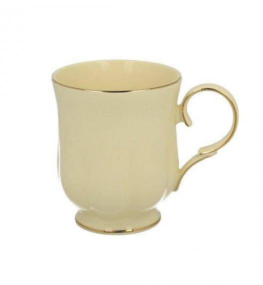 DUO CLARK Kubek na stopce 450 ml / złote zdobienia / porcelana