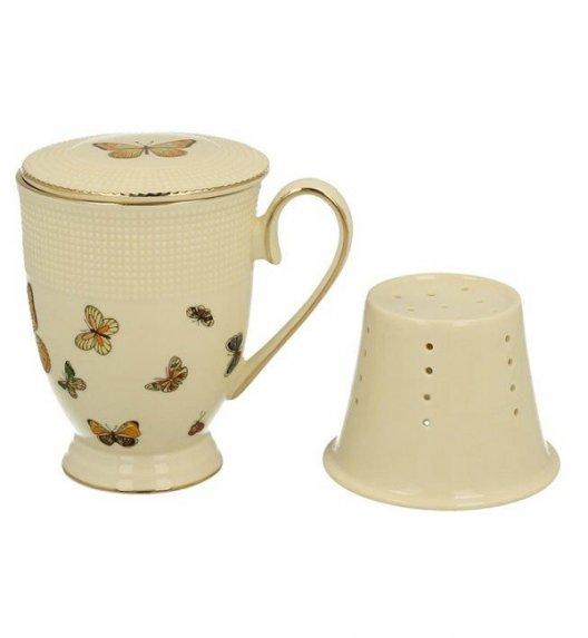 DUO MOTYLKI Kubek z zaparzaczem 400 ml / porcelana